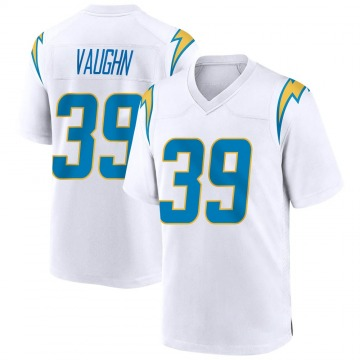 Men's Donte Vaughn Los Angeles Chargers Nike Game Jersey - White