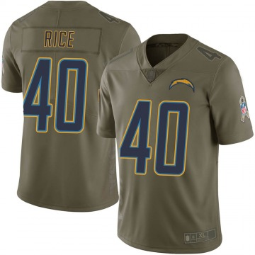 Men's Jared Rice Los Angeles Chargers Nike Limited 2017 Salute to Service Jersey - Green