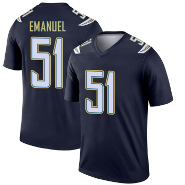 Men's Kyle Emanuel Los Angeles Chargers Nike Legend Jersey - Navy