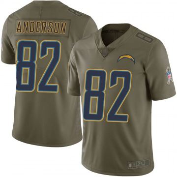 Youth Stephen Anderson Los Angeles Chargers Nike Limited 2017 Salute to Service Jersey - Green